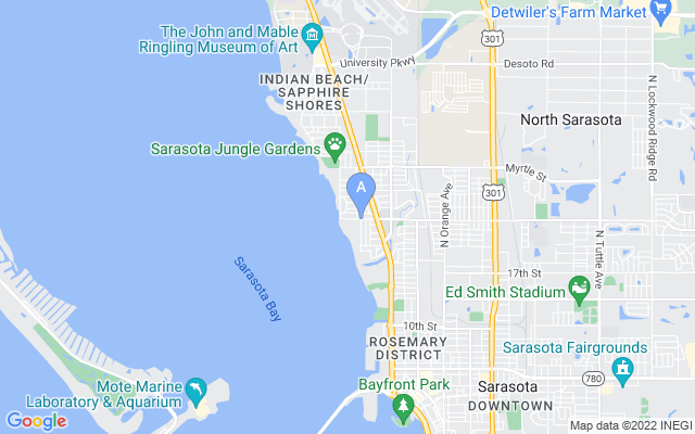 857 Indian Beach Dr Sarasota Florida 34234 locatior map