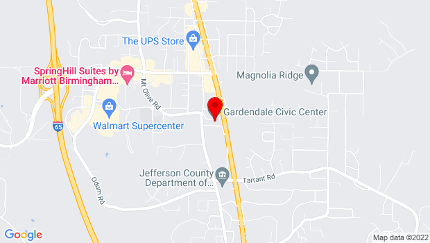 Google Map of 857 Main Street, Gardendale, AL 35071