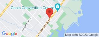 Google Map of 857+Lakeshore+Rd+East%2CMississauga%2COntario+L5E+1E2
