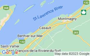 Map of Camping Coop Des Érables De Montmagny