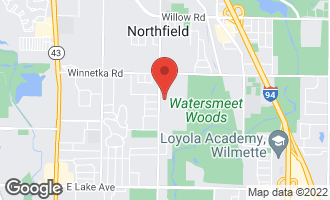 Map of 860 Queens Lane GLENVIEW, IL 60025