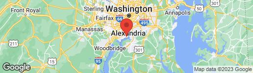 Map of 8607 PILGRIM COURT ALEXANDRIA, VA 22308