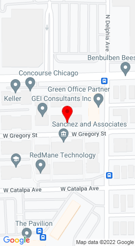 Google Map of Loeb Auctioneers 8609 W. Bryn Mawr, Suite 208, Chicago, IL, 60631