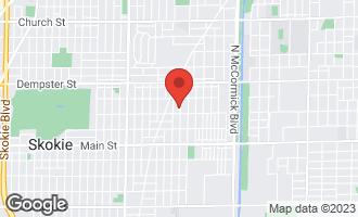 Map of 8616 Monticello Avenue SKOKIE, IL 60076