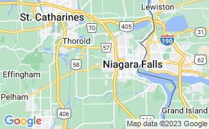 Map of KOA Niagara Falls