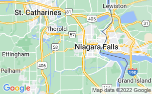 Map of KOA Niagara Falls