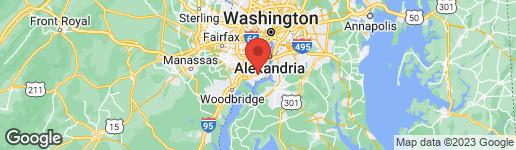 Map of 8636 GATESHEAD ROAD ALEXANDRIA, VA 22309