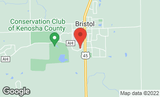 Map of 8640 Chaucer Circle BRISTOL, WI 53104