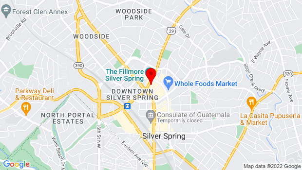 Google Map of 8641 Colesville Rd, Silver Spring, MD 20901
