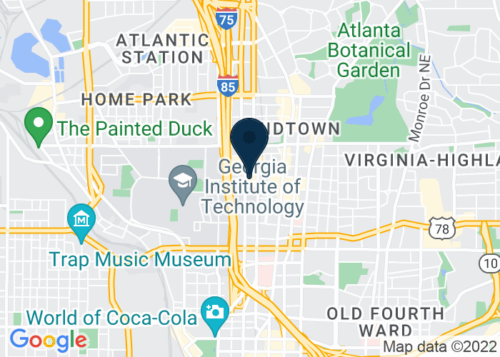 Map of 866 West Peachtree Street NW, Atlanta, GA 30308, United States