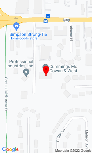 Google Map of CMW Equipment, Inc. 8668 Olive Boulevard, St. Louis, MO, 63132