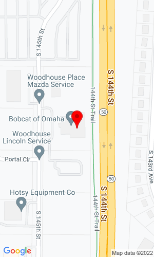 Google Map of Bobcat of Omaha  8701 South 145th Street, Omaha, NE, 68138