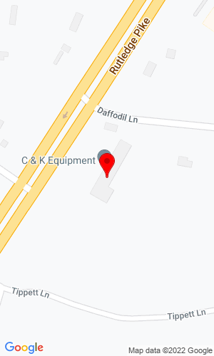 Google Map of C&K Equipment 8724 Rutledge Pike, Knoxville, TN, 37914