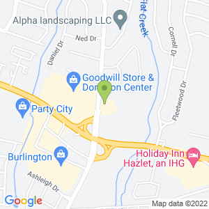 Google Map of 875 Poole Ave Hazlet, NJ 07730