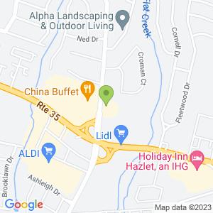 Google Map of 875 Poole Ave Hazlet, NJ 07730