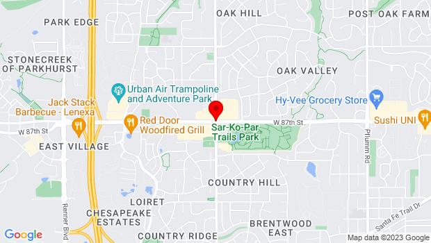 Google Map of 87th Street Parkway & Lackman Road, Lenexa, KS 66215