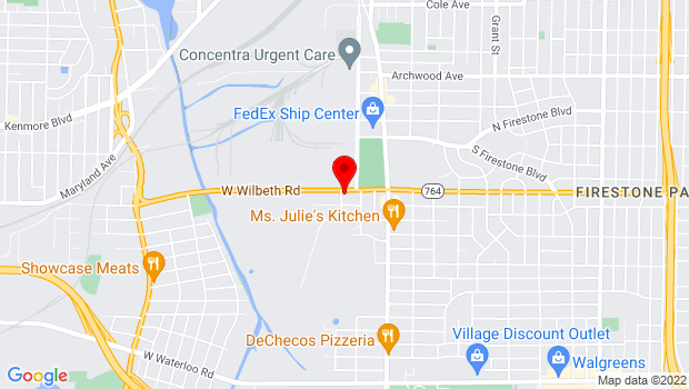 Google Map of 88 West Wilbeth Rd, Akron, OH 44301