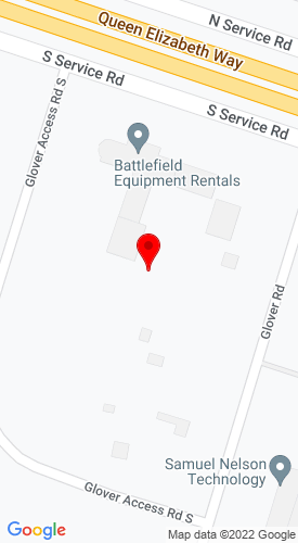 Google Map of Battlefield Equipment Rentals 880 South Service Road, Stoney Creek, Ontario, Canada, L8E 5M7