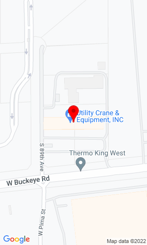 Google Map of Utility Crane and Equipment, Inc. 8800 W Buckeye Road, Tolleson, AZ, 85353