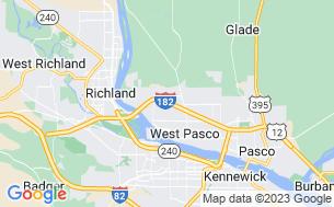 Map of Pasco/Tri-Cities KOA