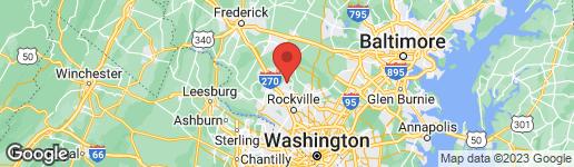 Map of 8813 WELBECK WAY MONTGOMERY VILLAGE, MD 20886
