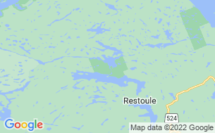 Map of Restoule Campground