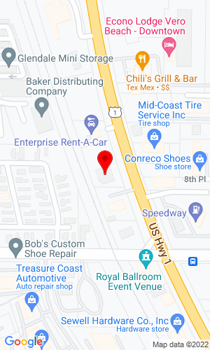 Google Map of ACME Truck Body 885 US Highway 1, Vero Beach, FL, 32960