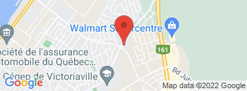Google Map of 885%2C+Notre-Dame+Est%2CVictoriaville%2CQuebec+G6P+4B8