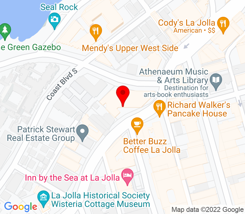 Click to view Google maps office address 888 Prospect Street, Suite 301, La Jolla, CA 92037