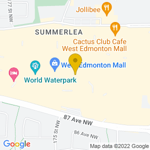 Map to The Rec Room - West Edmonton Mall provided by Google