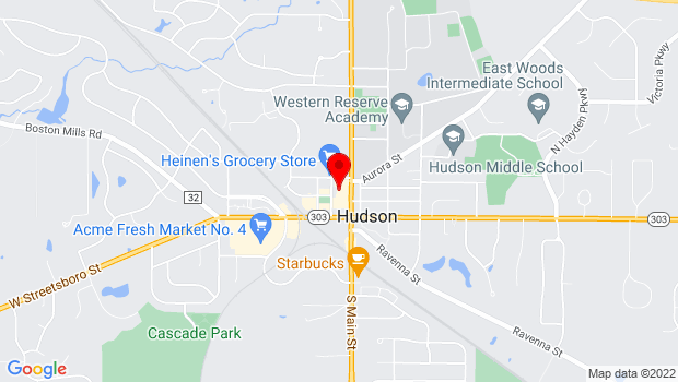 Google Map of 89 1st St, Hudson, OH 44236