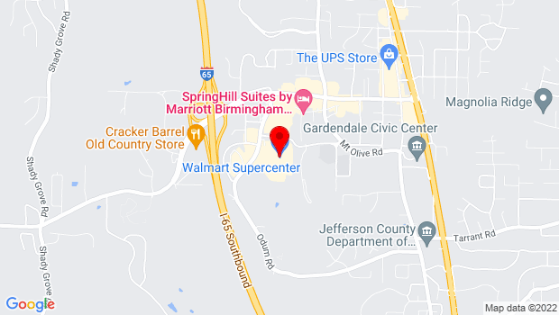 Google Map of 890 Odum Road, Gardendale, AL 35071