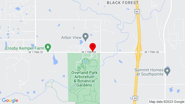 Google Map of 8909 W. 179 Street, Overland Park, KS