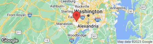 Map of 8924 FALLING CREEK COURT ANNANDALE, VA 22003