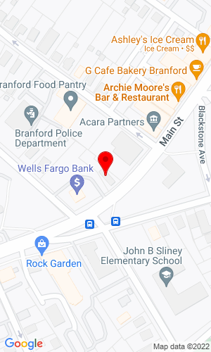 Google Map of The Branford Group 896 Main Street, Branford, CT, 06405