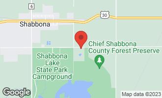 Map of 8965 Tomahawk Trail South SHABBONA, IL 60550