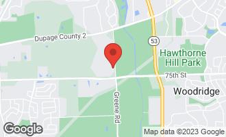 Map of 8S311 Hampton Circle NAPERVILLE, IL 60540