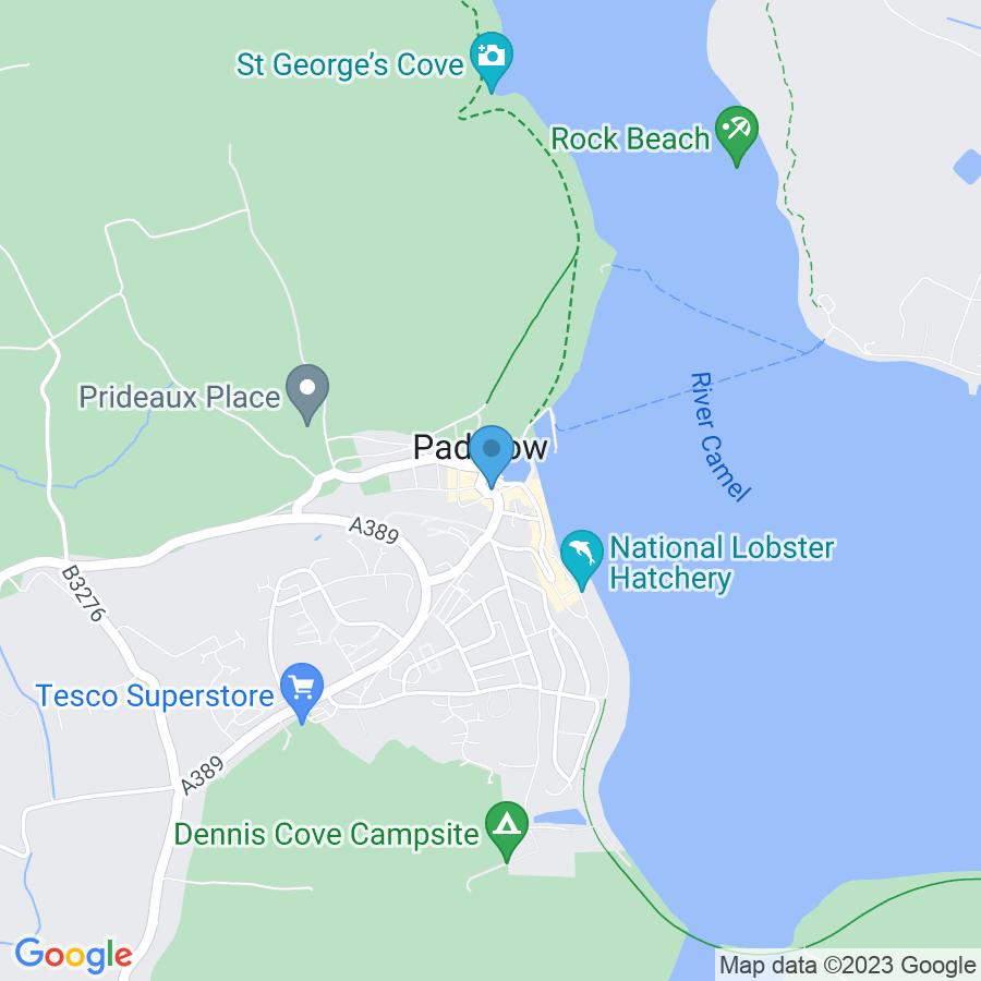 Google Map of 9+Broad+Street+Padstow+United+Kingdom+PL28+8BS