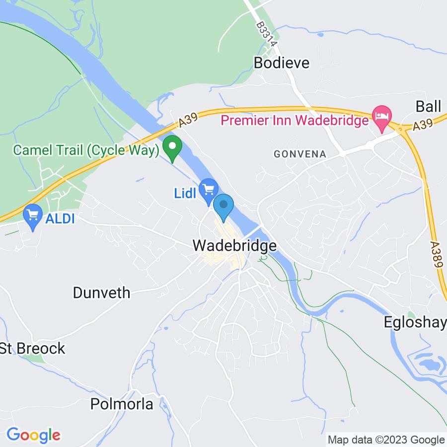 Google Map of 9+Eddystone+Road+Wadebridge+United+Kingdom+PL27+7AL