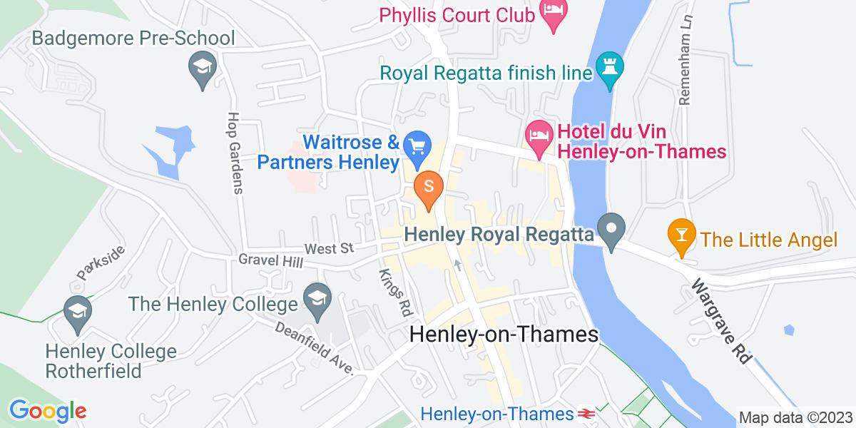 Google Map of 9-11 Bell Street Henley-On-Thames RG9 2BA
