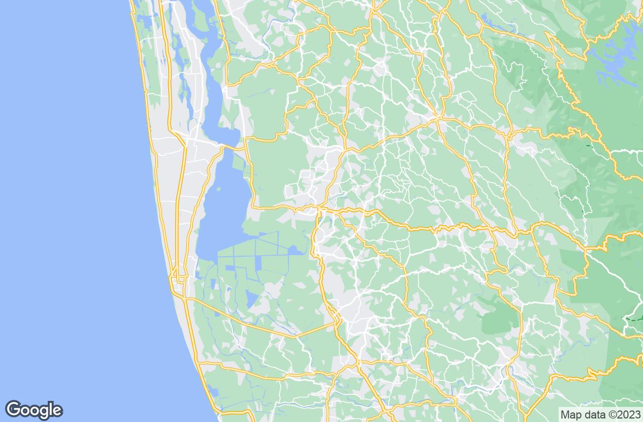 Google Map of Kottayam