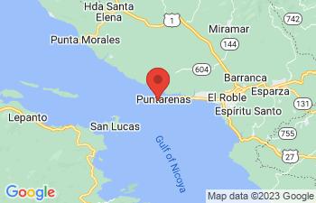 Map of Puntarenas