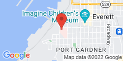 Google Map of 900 Pacific Avenue+Everett+WA+98201