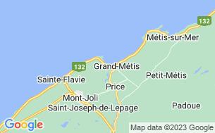 Map of Camping Parc De La Rivière Mitis