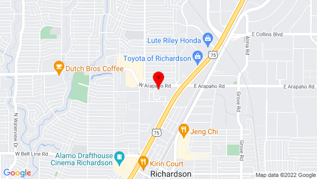 Google Map of 900 Civic Center Drive, Richardson, TX 75080