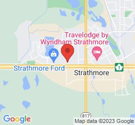 Google Map of 900+Westridge+Road%2CStrathmore%2CAlberta+T1P+1H8
