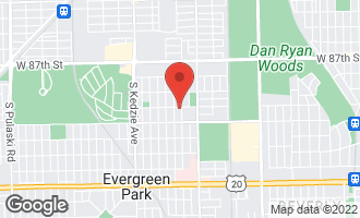 Map of 9000 South Francisco Avenue EVERGREEN PARK, IL 60805