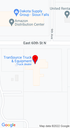 Google Map of TranSource Truck & Trailer Centers 901 E 60th Street North+Sioux Falls+SD+57104