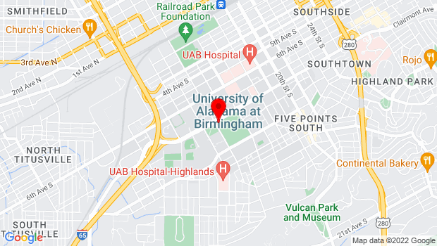 Google Map of 901 13th Street , Birmingham, AL 35294