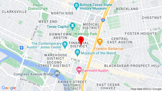 Google Map of 901 Trinity St, Austin, TX 78701